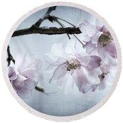 Cherry Blossom Sweetness Round Beach Towel