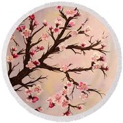 Cherry Blossoms 2 Round Beach Towel