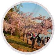 Cherry Blossoms 2013 - 007 Round Beach Towel