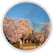 Cherry Blossoms 2013 - 015 Round Beach Towel