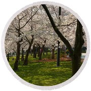 Cherry Blossoms 2013 - 057 Round Beach Towel