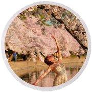 Cherry Blossoms 2013 - 077 Round Beach Towel