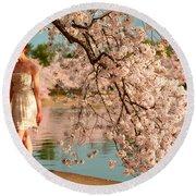 Cherry Blossoms 2013 - 079 Round Beach Towel