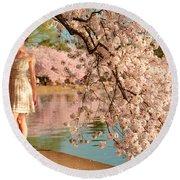 Cherry Blossoms 2013 - 080 Round Beach Towel