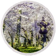Cherry Blossoms 2014. Round Beach Towel