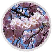 Cherry Blossom Trees Of Branch Brook Park 3 Round Beach Towel