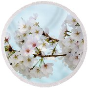 Cherry Blossoms No. 9146 Round Beach Towel