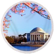 Cherry Jefferson Round Beach Towel
