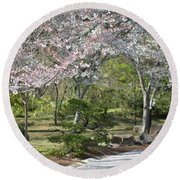 Cherry Lane Series  Picture A Round Beach Towel