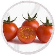 Cherry Tomatoes Cutout Round Beach Towel