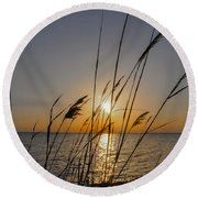 Chesapeak Bay At Sunrise Round Beach Towel