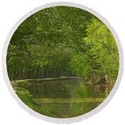 Chesapeake And Ohio Canal Towpath Round Beach Towel