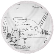 Chesapeake Bay, 1776 Round Beach Towel