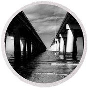 Chesapeake Bay Bridge II Round Beach Towel