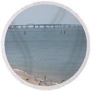 Chesapeake Bay Bridge - Tunnel Round Beach Towel
