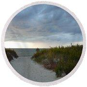 Chesapeake Bay Storm Round Beach Towel
