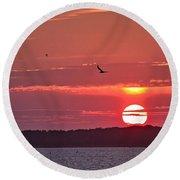 Chesapeake Sunset 1 Round Beach Towel