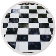 Chess In The Park Round Beach Towel