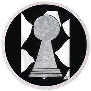Chess Pawn Round Beach Towel