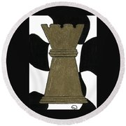Chess Queen Round Beach Towel