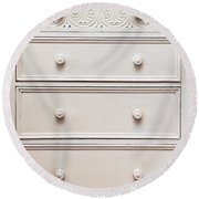 Chest Of Drawers Round Beach Towel by Tom Gowanlock