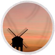 Chesterton Windmill Round Beach Towel by Anne Gilbert