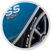 Chevelle Ss 454 Badge Round Beach Towel