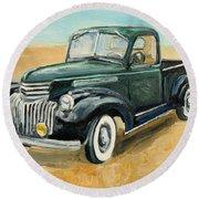 Chevrolet Art Deco Truck Round Beach Towel