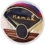 Chevrolet Belair Nomad Dashboard Round Beach Towel