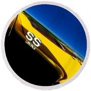 Chevrolet Chevelle Ss 396 Side Emblem Round Beach Towel