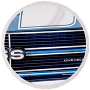 Chevrolet Chevelle Ss Grille Emblem 2 Round Beach Towel by Jill Reger