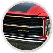 Chevrolet Chevelle Ss Grille Emblem Round Beach Towel