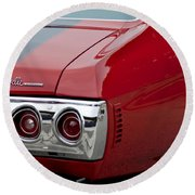 Chevrolet Chevelle Ss Taillight Emblem 3 Round Beach Towel