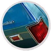 Chevrolet El Camino Taillight Emblem Round Beach Towel
