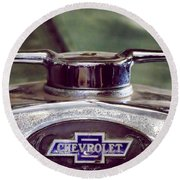 Chevrolet Hood Ornament Round Beach Towel