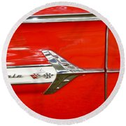 Chevrolet Impala Classic In Red Round Beach Towel