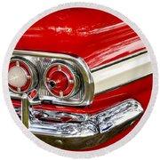 Chevrolet Impala Classic Rear View Round Beach Towel