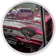 Chevy Bel Air Dash Round Beach Towel