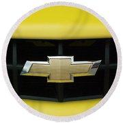 Chevy Camero Emblem 01 Round Beach Towel