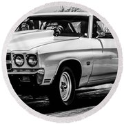 Chevy Chevrolet Chevelle Ss Burning Rubber Round Beach Towel