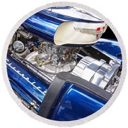 Chevy Hot Rod Engine Round Beach Towel