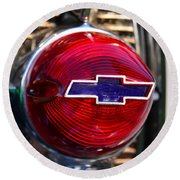 Chevy Red White And Blue Round Beach Towel