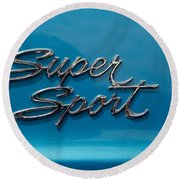 Chevy Super Sport II Emblem Round Beach Towel