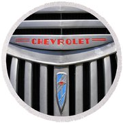 Chevy Truck Grill Round Beach Towel