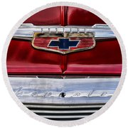 Chevy Truck Logo Vintage Round Beach Towel