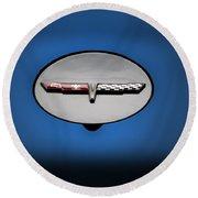 Chevy Vet Gas Cap Emblem Round Beach Towel