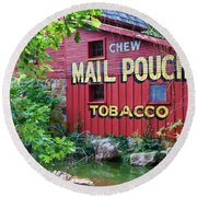 Chew Mail Pouch Tobacco  Round Beach Towel