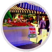 Chez Nino At Marche Jean Talon Montreal A Taste Of Culinary Culture  Food Art Scenes Carole Spandau  Round Beach Towel