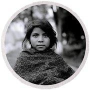 Chiapas Girl Round Beach Towel