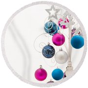 Chic Tree Round Beach Towel